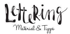Hand und Brush Lettering Material und Tipps #howto #tutorial