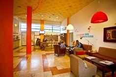 Reception @ Abraham Hostel, Jerusalem  http://www.famoushostels.com/hostels/hostel-jerusalem/
