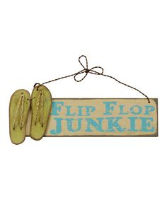 'Flip Flop Junkie' Wall Art