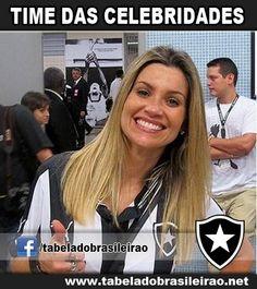 Flávia Alessandra torce pelo Botafogo