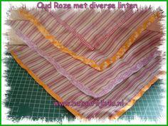 Bandana Oud Roze met diverse linten