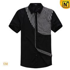 Mens Fashion Designer Matching Short Sleeve Shirts CW100312 Black $108.67 - www.cwmalls.com