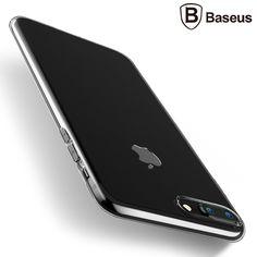 Baseus 5 컬러 투명 case 대한 apple iphone 7 plus 럭셔리 간단한 tpu 실리콘 소프트 다시 case 코브 iphone 7