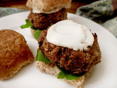 These lentil and portobello sliders are an incredibly delicious meat-free, gluten-free and dairy-free option to cholesterol-laden burgers. Try them and be amazed.