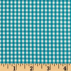 Kaufman 1/8'' Carolina Gingham Turquoise from @fabricdotcom  From Robert Kaufman Fabrics, this light weight woven yarn dyed gingham fabric is extremely versatile.  It can be used to create stylish summer dresses, children's apparel and blouses.  It can also be used to make tablecloths, curtains and even handkerchiefs.  Checks measure 1/8''. Remember to allow extra yardage for pattern matching.