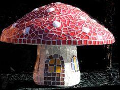 Mosaic Toadstool by Elize Kunz