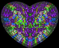 Peace Designs One Heart At A Time: One heart with ripples, connecting, flowing, blending with more hearts showcased in colorful peace sign designs. Peace Love Happiness, Peace And Love, Hippie Art, Hippie Style, Peace Sign Art, Peace Signs, Animated Heart Gif, Beautiful Gif, Beautiful Pictures