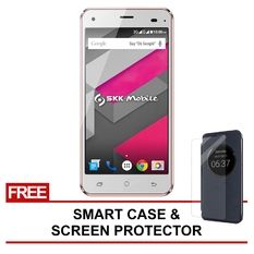 SKK Mobile Chronos Ace 8GB (Rose Gold) with Free Smart case and Screen Protector