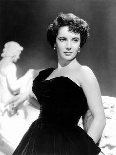 Photo: Elizabeth Taylor, 1950 : 24x18in
