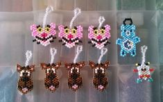 Pink Panther, Scooby-Doo, Bedtime Bear Care Bear, and Twink from Rainbow Brite by maninthebook - Kandi Photos on Kandi Patterns Kandi Patterns, Rainbow Brite, Brick Patterns, Peyote Beading, Pink Panthers, Brick Stitch, Bedtime, Scooby Doo, Bear