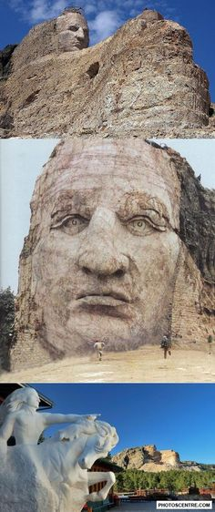 South Dakota - Crazy Horse Monument Is Enormous And Thought Provoking. Also Visited Mount Rushmore, Wall, And Sturgis