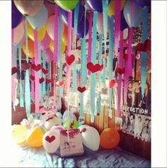 Resultado de imagen para decoracion de una habitacion para cumpleaños de mi mejor amiga
