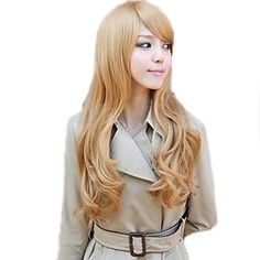 Lady Fashion Synthetic Long Full Bang Wigs 3 Colors Available