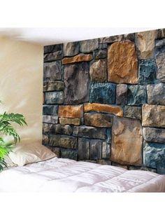 Wall Hangings Art Decor Stone Brick Wall Print Tapestry