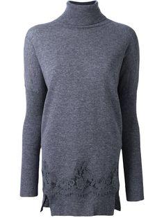 ERMANNO SCERVINO lace detail long jumper. #ermannoscervino #cloth #jumper