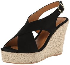 Qupid Women's Cammi-10a Wedge Sandal For more details, please visit http://girlyuniverse.com
