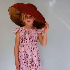 Girls cotton lawn flutter sleeve dress  pink by SchoolHouseFrock, $52.00