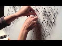 """Vera Bugatti » Artist & Street Painter » The making of my """"Wire and nails project"""""""
