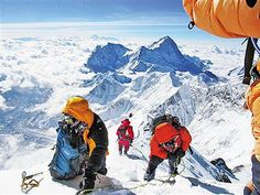 The tallest mountain on land in our world is part of the Himalayan Alps and called Mount Everest. It is a horrible fact that there are many climbers killed in falls and deep crevasses. Our World, All Over The World, Monte Everest, Mountain Climbing, Mountaineering, Climbers, Himalayan, Alps, Nepal