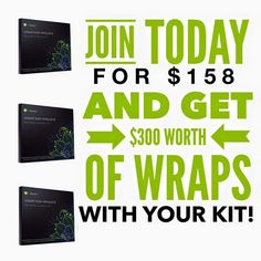 CHECK THIS OUT!!! If you have wanted to do what I do, TODAY is the day. Here is why: You can BOGO (buy one get one FREE wraps) with your enrollment business kit for ONLY $158 putting a profit of $182 in your pocket just for joining! You will ALSO be eligible for our $500 Ruby Bonus & our $120 in FREE product which would put an ADDITIONAL $200 cash in your pocket! There is LITERALLY no better day than TODAY to join!! ((You can always purchase the enrollment business kit for $99