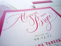 Wedding Invitation by Alisara Tareekes, via Behance