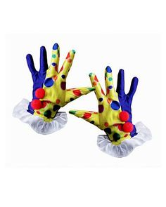 Clown's Gloves in Yellow