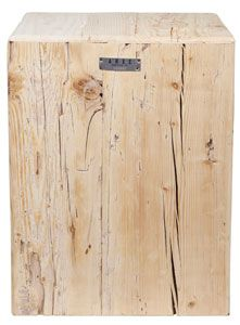 Salve stump stool, rustic inspired home design. recycled wood stool with great detail for an heirloom aesthetic.