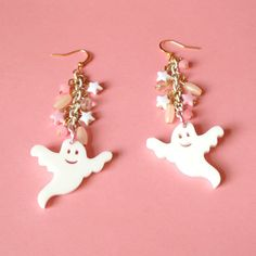 Ghost Earrings Cute Kawaii Boo Glow In The Dark by XKawaiiCutieX, £8.00