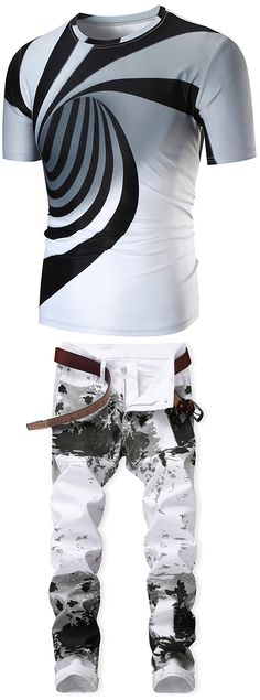 Discover men's t-shirts and pants at Dresslily. Shop plain, printed and long sleeve t-shirts and pants, in longline and oversized styles with Dresslily.com.FREE SHIPPING WORLDWIDE!#men Cheap Mens Fashion, Dope Fashion, Fashion Outfits, Men Fashion, Fashion Basics, T Shirt Vest, Mens Tee Shirts, Shirt Outfit, Mens Clothing Styles