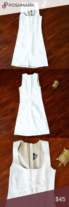 100% LAMBSKIN white dress by SOLD, sz 2 soft Super cute fitting lambskin white dress by SOLD. Amazing condition, zipper works, no stains, and no holes. SOLD Design Lab Dresses Mini