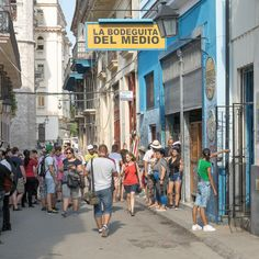 """Thousands of tourists visit theBodeguita del Medio in Havana Cuba each day, which was made famous by Ernest Hemingway. Hemingway's watering holes in Havana more bustling than ever thanks to the famous writer. La Bodeguita del Medio  Hanging in the bar is a small with Hemingway's signed quote: """"My mojito in the Bodeguita del …"""