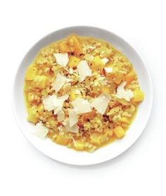 Butternut Squash and Barley Risotto Swap Arborio rice for barley to create a healthier and more flavorful dish.