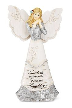 Elements Aunt Angel Figurine by Pavilion, 6-Inch, Inscription Aunts Fill Our Lives with Love and Laughter Elements,http://www.amazon.com/dp/B0078SV1QE/ref=cm_sw_r_pi_dp_1B8btb0E8Z7XK9ET