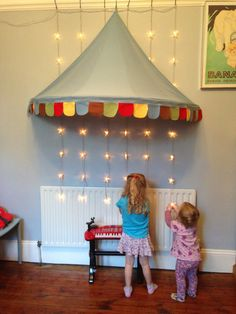 Ikea canopy & star lights / creating a stage/photo booth setting for the party