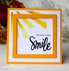 #Flourishtina, #SSS FAVE, SSS Square Stitched Dies, SSS Happy & Smile stamp set, SSS Lemon Chiffon ink