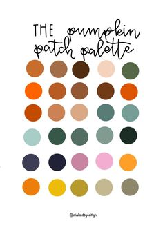 Excited to share this item from my shop: The Pumpkin Patch Procreate Custom Color Palette - iPad - Color Palette- Swatches - Lettering - Brushes Palette Art, Colour Pallette, Colour Schemes, Color Patterns, Color Combos, Colour Chart, Design Seeds, Ipad, Color Stories