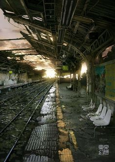 Abandoned train station. Pinterest search 13th Friday 2015