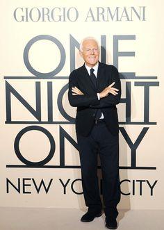 Giorgio Armani at Armani One Night Only New York City event