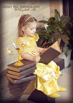 3 year old girl photo shoot idea. Disney Beauty and the Beast theme. Belle. Sweet Pea Photography. Norwalk, OH