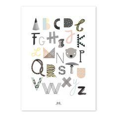 illustriertes ABC Poster // illustrated alphabet poster via  DaWanda.com
