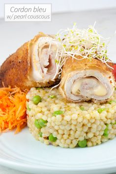 Fusion cuisine with French and Middle-eastern roots. Learn how to make cordon bleu with pearl couscous in about 2 hours. Recipe for 6 people.