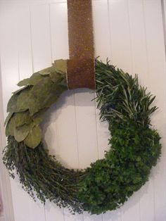 The Complete Guide to Imperfect Homemaking: DIY Herb Wreath