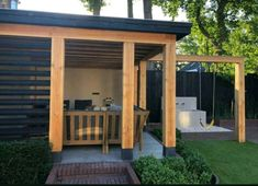 Even though age-old in idea, the particular pergola continues to be having a current renaissance Gazebo, Pergola, Roof Structure, Unfinished Wood, Planter Boxes, Summer Time, Deck, Backyard, Patio