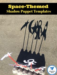 Space-Themed Shadow Puppet Templates - JDaniel4s Mom Space Activities For Kids, Printable Activities For Kids, Preschool Learning Activities, Toddler Activities, Early Learning, Kids Learning, Outdoor Fun For Kids, Cool Science Experiments, Shadow Puppets
