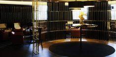 Grades de metal para o bar no hotel Pullman Bruxelas
