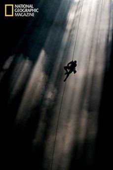 Climbing through clouds