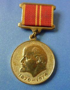 Soviet USSR Russian Medal Order 100 Years of LENIN birthday 1970 military valour