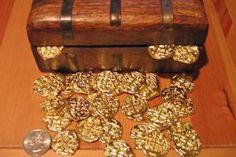 Stand Alone Treasure Chest Pirate Coins, Pirate Treasure Chest, Gold Coins, Silver, Money
