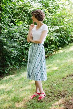 What I Made // Elastic Back Half-Circle Skirt