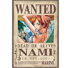 One Piece Poster Wanted Nami. Hier bei www.closeup.de